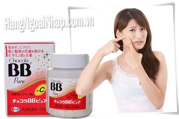 Thuốc trị mụn hiệu quả nhất hiện nay BB Chocola Pure Nhật Bản