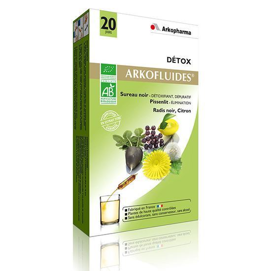 Thuốc thải độc gan của pháp arkopharma détoxifiant hépatique