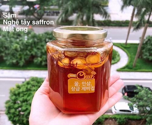 Cách dùng sâm mật ong nghệ tây Saffron Mama Chuê-3