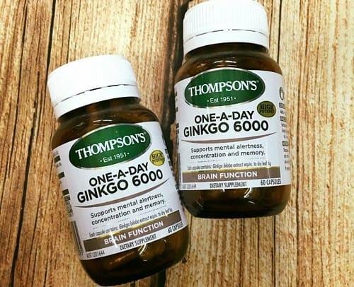 Viên uống Thompsons Ginkgo 6000mg có tác dụng gì-1
