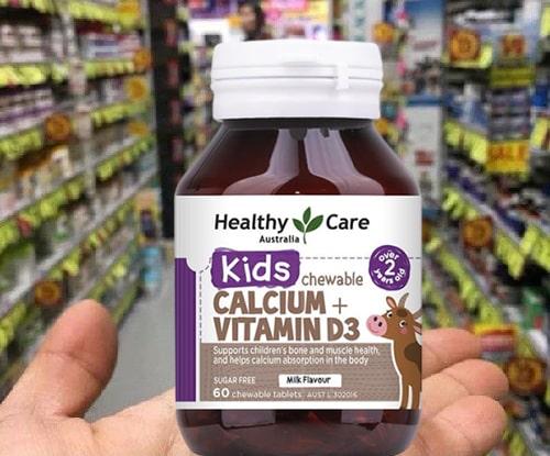 Viên nhai Healthy Care Calcium + Vitamin D3 có công dụng gì-2