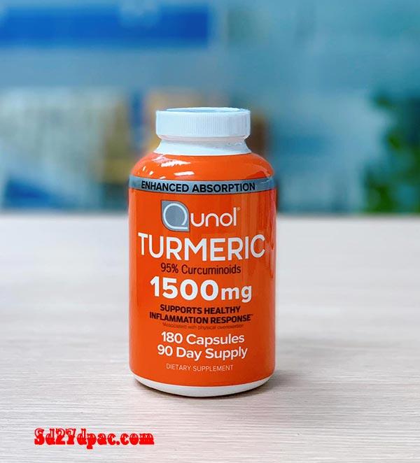 Tinh chất nghệ Qunol Turmeric 1500mg review