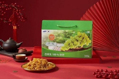 Nho khô xanh Hàn Quốc có tác dụng gì?-3