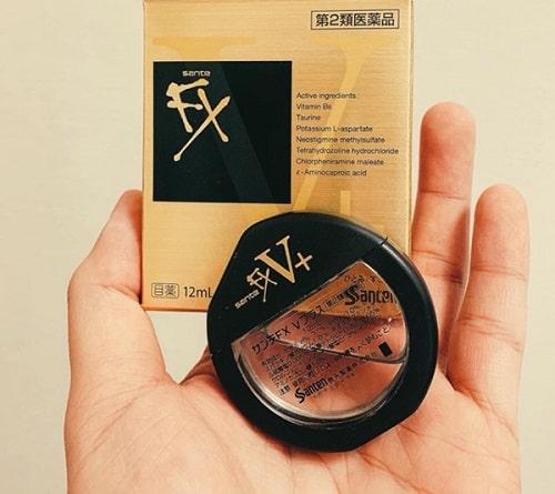 Review thuốc nhỏ mắt Santen FX V+ của Nhật Bản-3