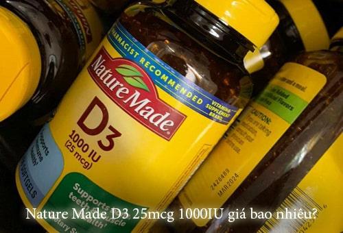 Nature Made D3 25mcg 1000IU giá bao nhiêu?-1